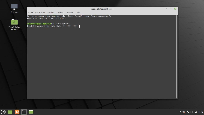 Linux Neustarten
